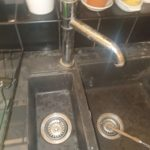 Double kitchen sink taps plumbing by Plumber Montpelier